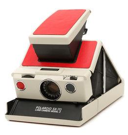 Polaroid Polaroid SX-70 Beige and Red Instant SLR Camera