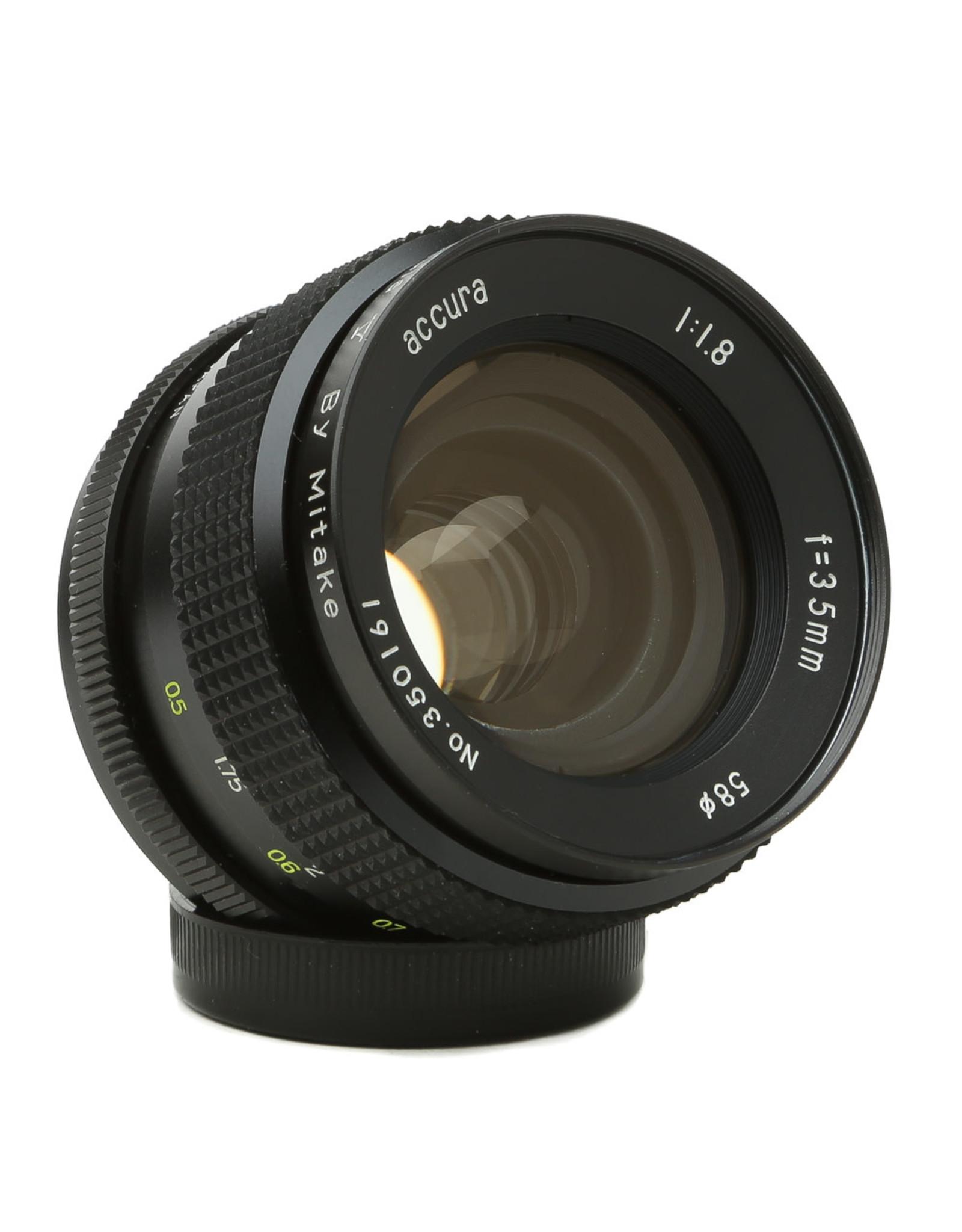 Mitake Accura 35mm f1.8 Formula V Lens M42 Mount