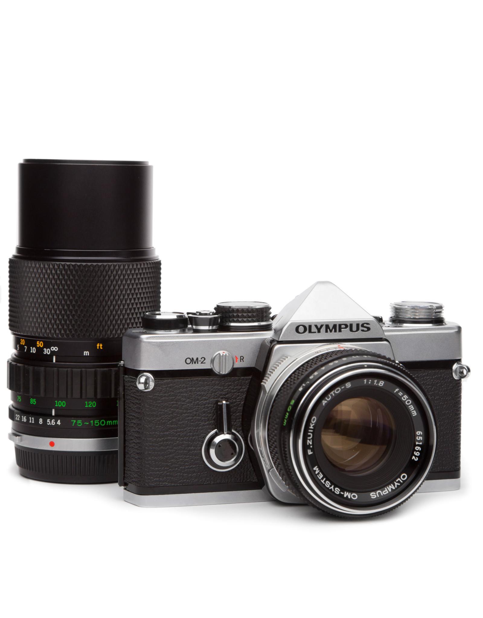 Olympus Olympus OM-2 35mm SLR w/50mm f1.8 & 75-150mm f4 Lens