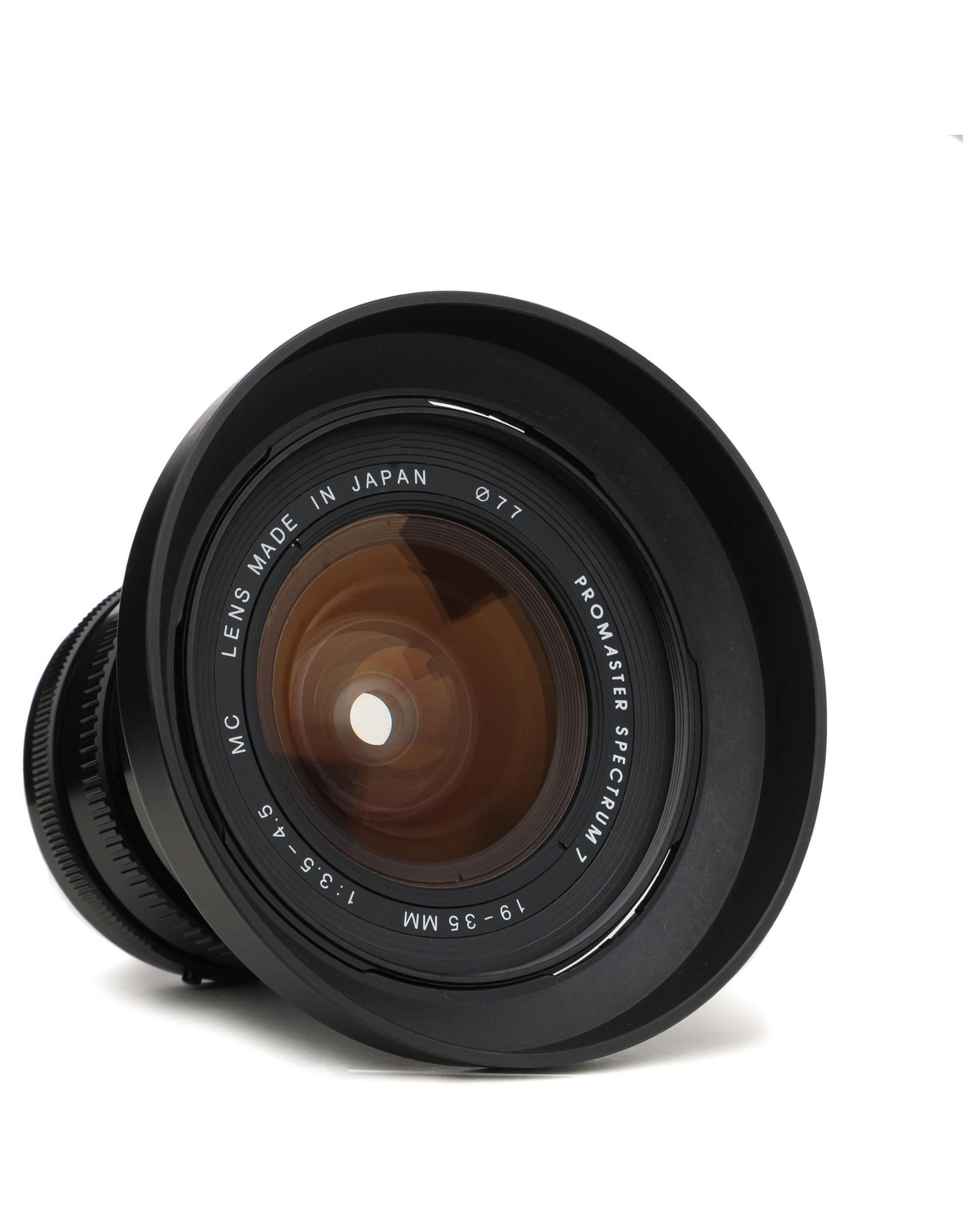 Promaster Promaster Spectrum 19-35mm f/3.5-4.5 Lens for K Mount