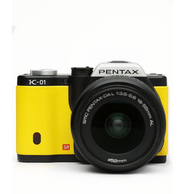 Pentax Pentax K-01 Mirrorless Digital Camera w/18-55mm f3.5-4.5 Lens Yellow