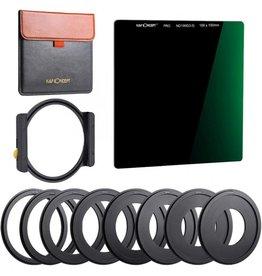 K&F K&F SN25T1 ND 3 Stop Square Filter 100x100mm + Metal Holder, 8 Adapter Rings