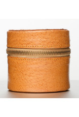acme camera Camel Brown Leather Lens Case, Small