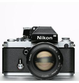 Nikon Nikon F2 Silver w/black Finder 35mm SLR Camera w/55mm f1.2
