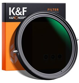 """K&F K&F XB41 58mm Variable ND&CPL Filter 2 in 1 Function Nano Coating No """"X"""" cross"""