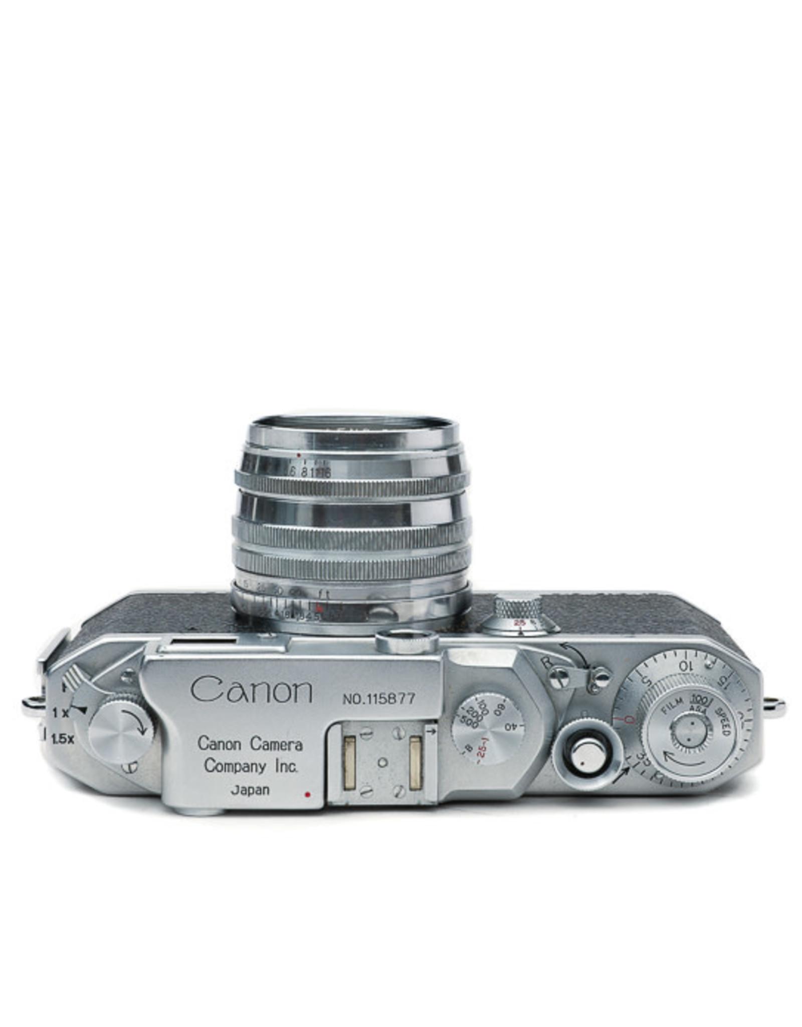 Canon Canon Model IIF 35mm Rangefinder Camera w/50mm f1.8 lens