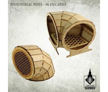 Industrial Pipe 90 Degrees HDF