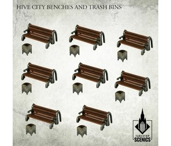 Hive City Benches and Trash Bins