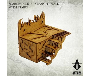 Orc Skargruk Line Straight Wall with Stairs HDF