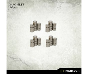 Neodymium Disc Magnets 3mm X 2mm (40 units)