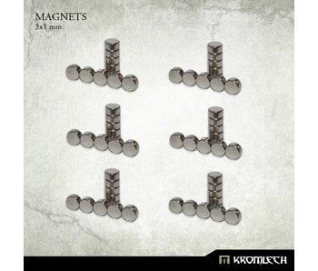 Neodymium Disc Magnets 3mm X 1mm (60 units)
