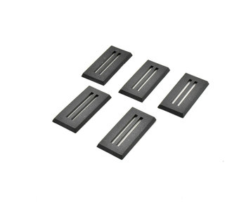25mm X 50mm Rectangular Slotta Bases (5)