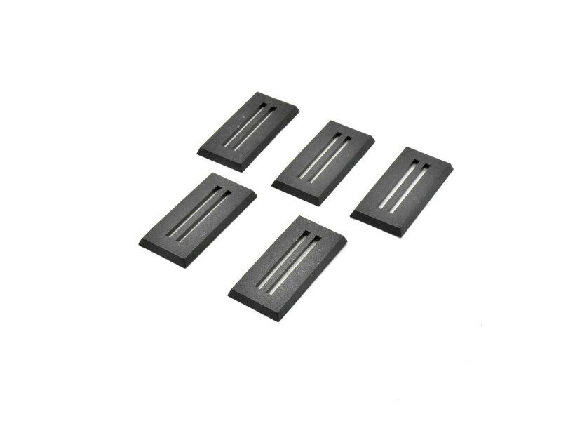 Kromlech 25mm X 50mm Rectangular Slotta Bases (5)