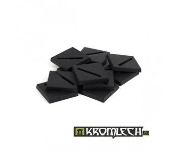25mm Square Slotta Bases (10)