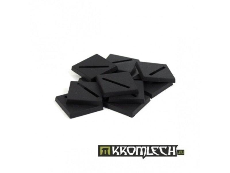 Kromlech 25mm Square Slotta Bases (10)