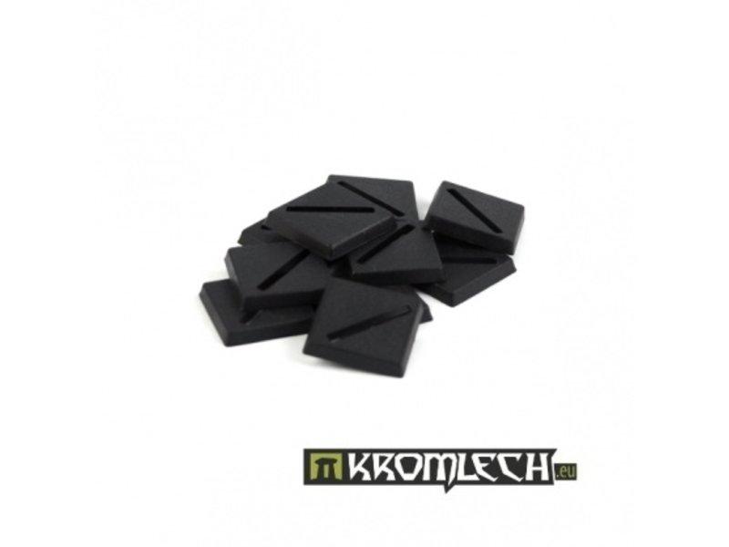 Kromlech 20mm Square Slotta Bases (10)