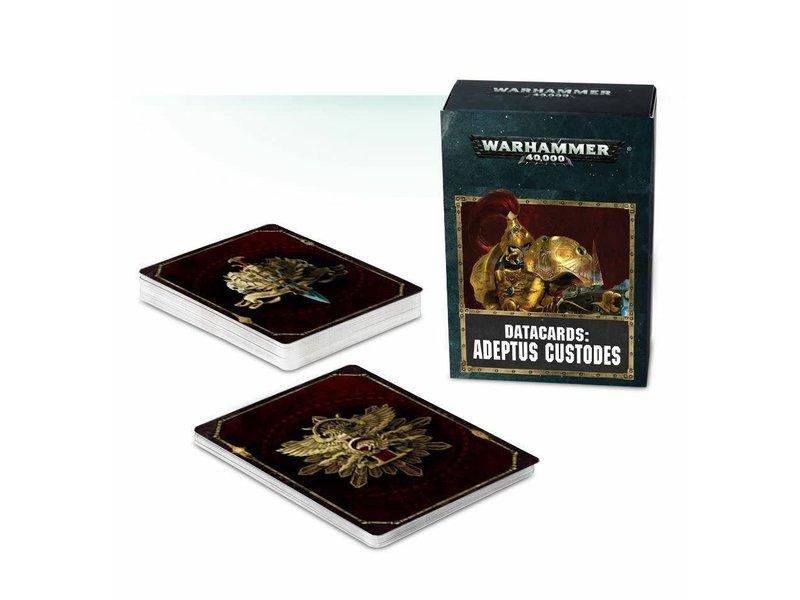 Games Workshop Adeptus Custodes Datacards