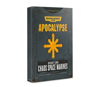 Apocalypse Chaos Space Marines Datasheet Cards