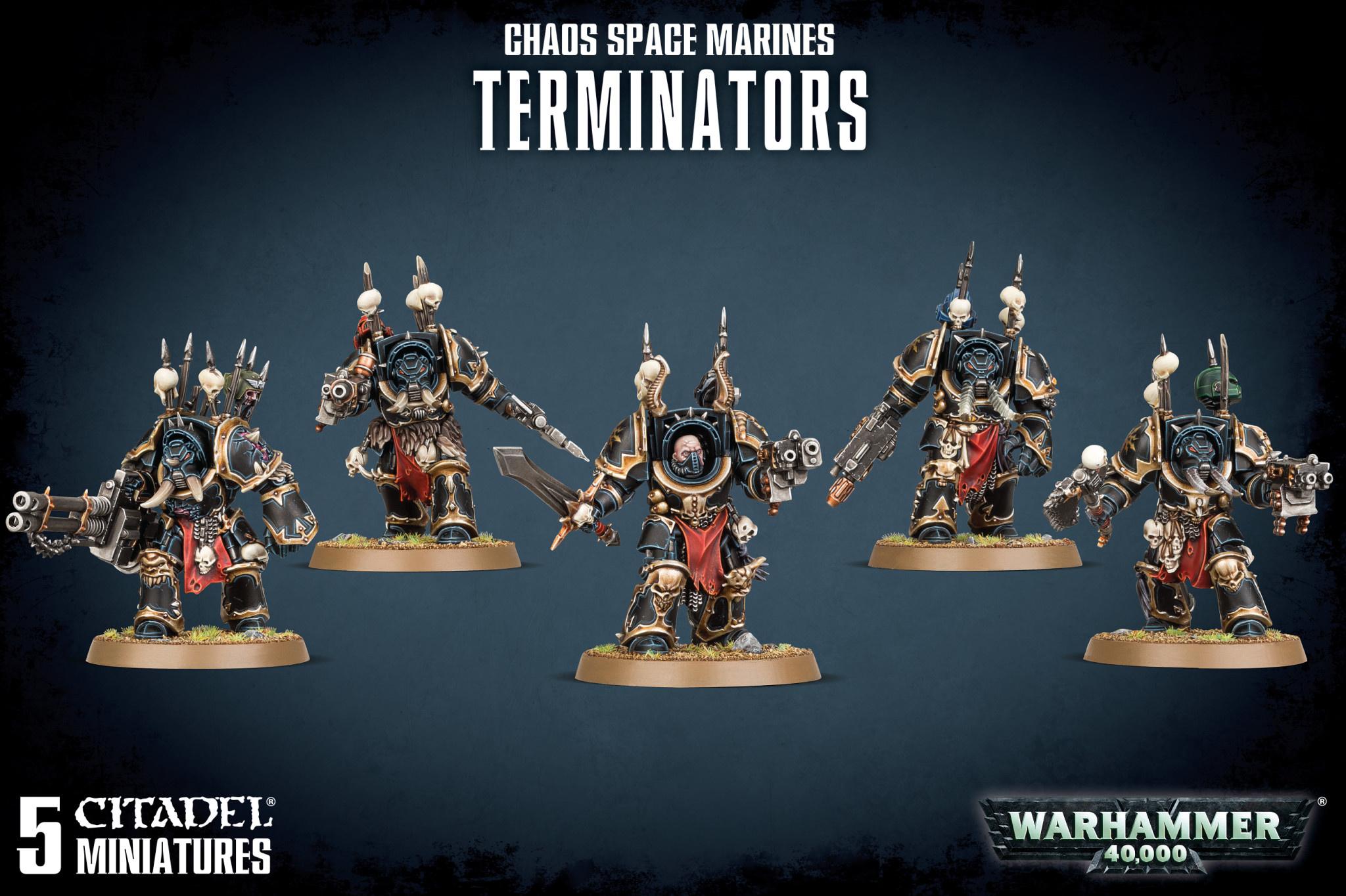 GW Citadel Warhammer 40K chaos space marines terminator Reaper Autocannon METAL