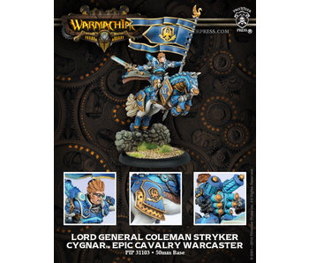 Cygnar Lord General Stryker Cavalry Epic Warcaster