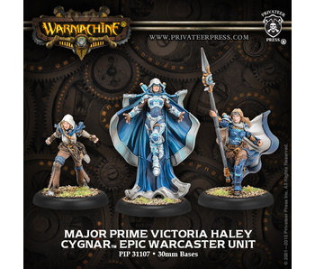 Cygnar Major Prime Victoria Haley Epic Warcaster