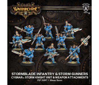 Cygnar Stormblade (6+3) Unit & Weapons Box (Plastic)