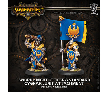 Cygnar Sword Knight Officer & Standard