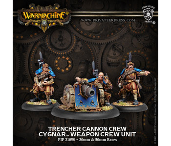 Cygnar Trencher Cannon Crew - PIP 31058