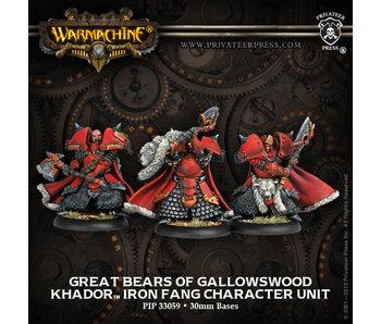 Khador Great Bears Gallowswood Char Unit