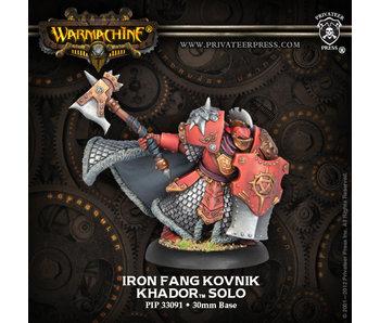 Khador Iron Fang Kovnik Solo