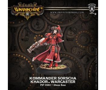 Khador Kommander Sorscha Warcaster