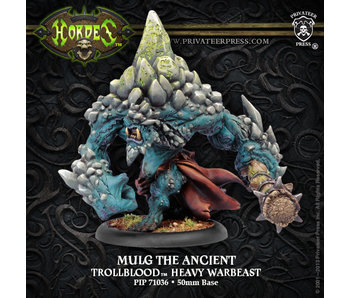 Trollbloods Mulg The Ancient Char Heavy Warbeast