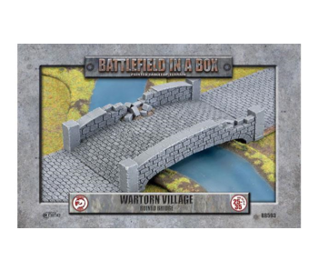 Battlefield in a Box -Wartorn Village Ruin Bridge