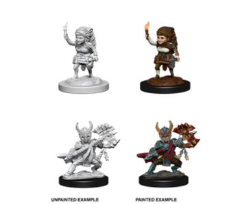 D&D Unpainted Minis Wv6 Female Halfling Fighter