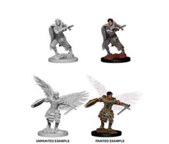 D&D Unpainted Minis Wv6 Male Aasimar Fighter