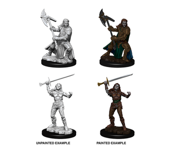 D&D Unpainted Minis Wv7 Female Half-Orc Fighter