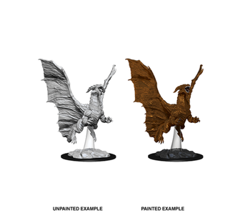 D&D Unpainted Minis Wv8 Young Copper Dragon
