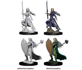 D&D Unpainted Minis Wv9 Female Elf Paladin