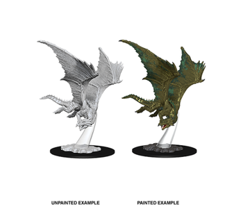 D&D Unpainted Minis Wv9 Young Bronze Dragon