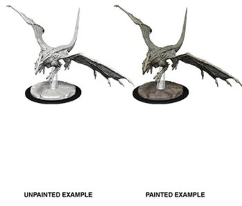 D&D Unpainted Minis Wv9 Young White Dragon
