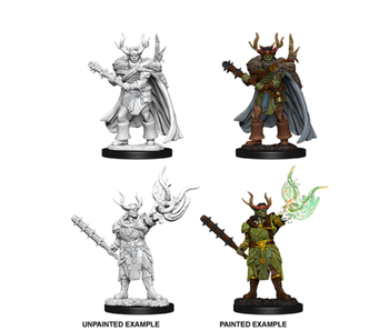 Pathfinder Unpainted Minis Wv10 Male Half-Orc Druid
