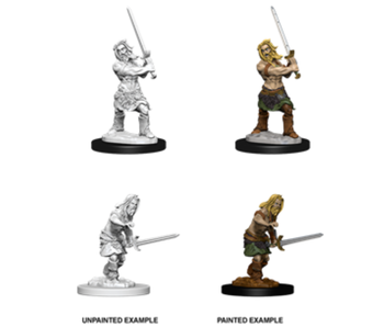 Pathfinder Unpainted Minis Wv6 Male Human Barbarian