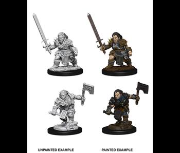Pathfinder Unpainted Minis Wv8 Female Dwarf Barbarian