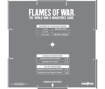 Flames of War Artillery Template