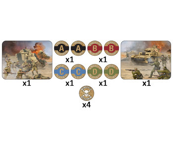 Flames of War Desert Mission Token Set