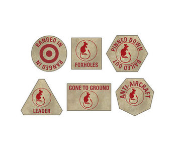 Flames of War Desert Rats Token Set