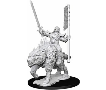 Pathfinder Unpainted Minis Wv7 Orc on Dire Wolf