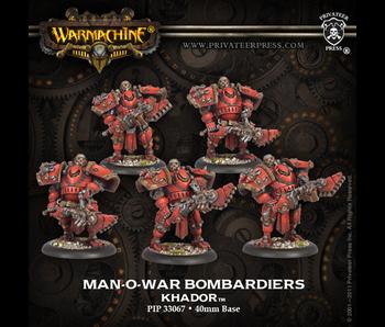 Khador Man-O-War Bombardiers Unit (Plastic)