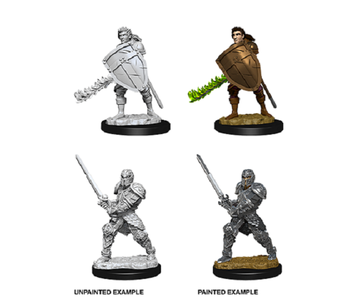 D&D Unpainted Minis Wv8 Male Human Fighter