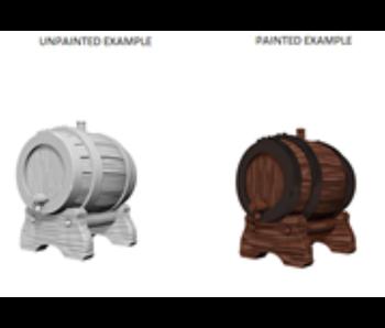 Wizkids Unpainted Minis Wv2 Keg Barrels